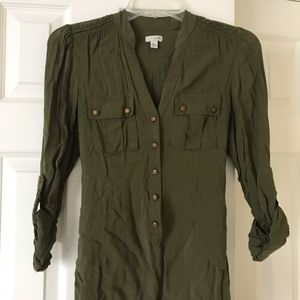 Anthropologie Military Style Top